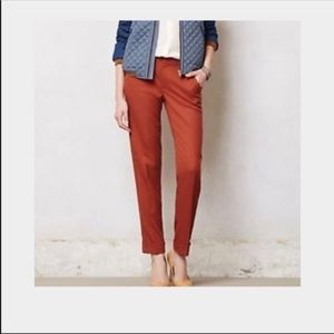 Anthropologie Cartonnier Lou taper cropped pants